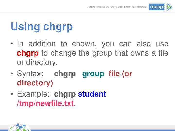 Using chgrp