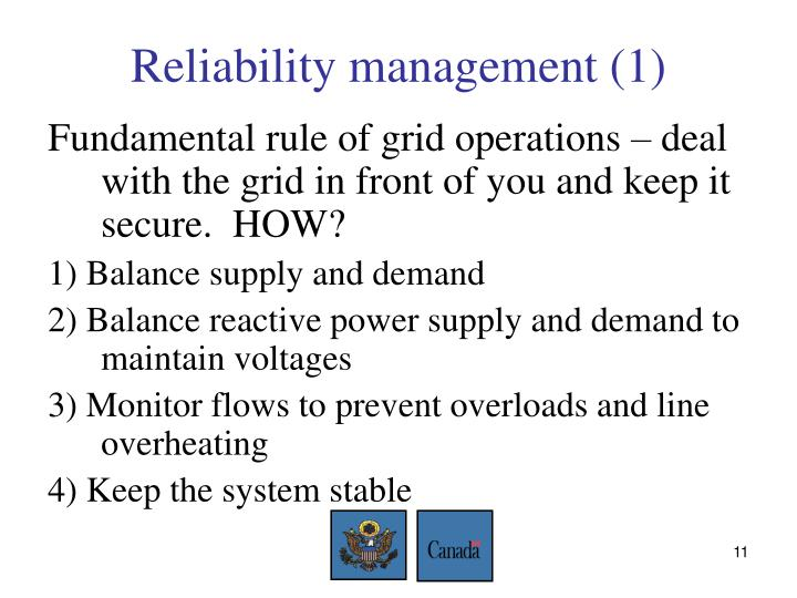 Reliability management (1)