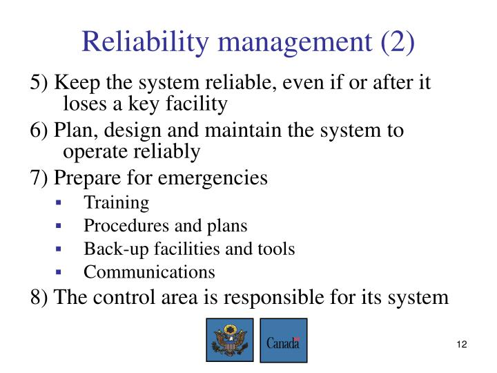 Reliability management (2)