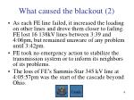 what caused the blackout 2