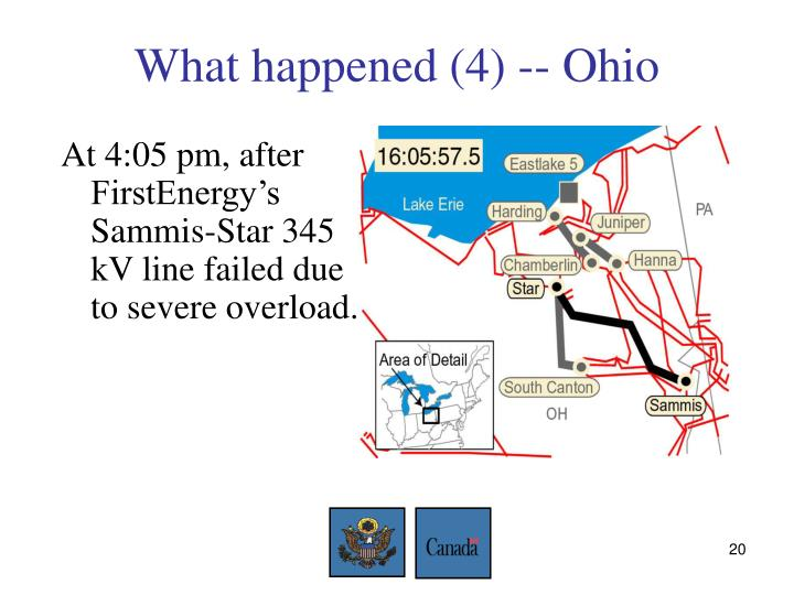 What happened (4) -- Ohio