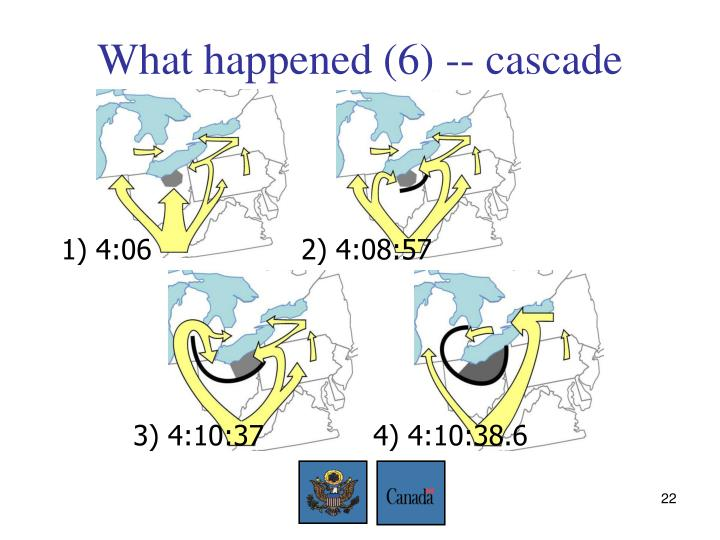 What happened (6) -- cascade