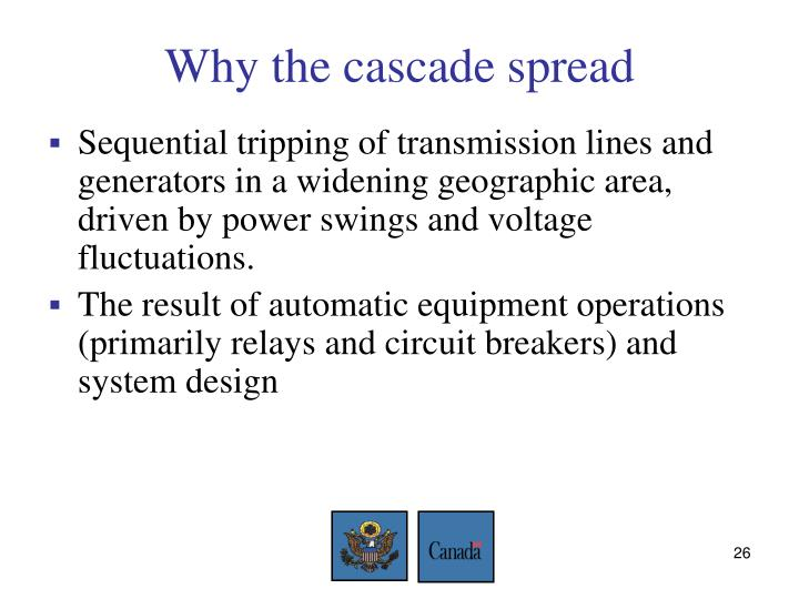 Why the cascade spread