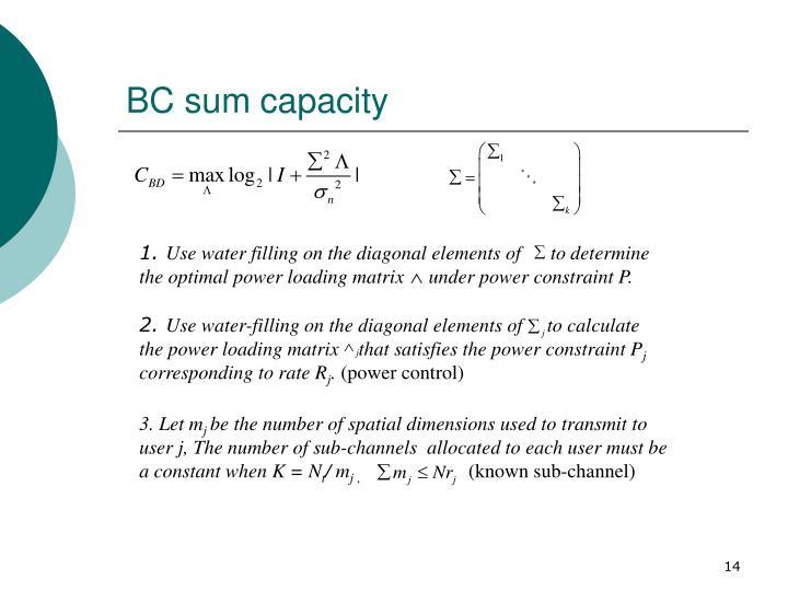 BC sum capacity