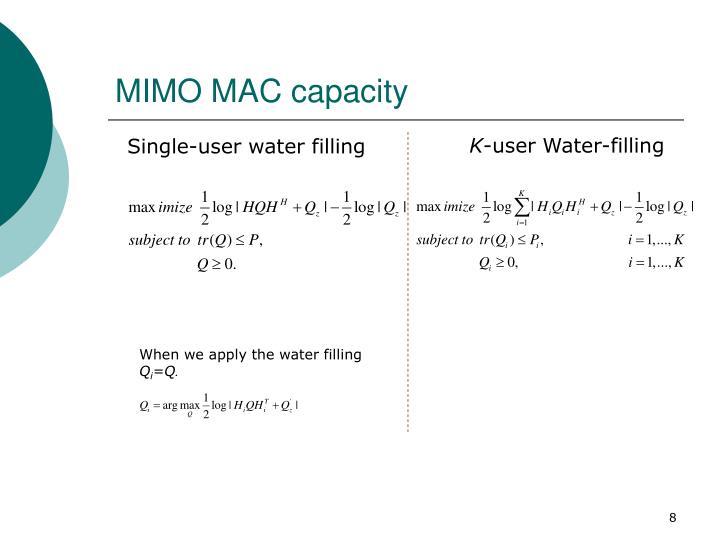 MIMO MAC capacity