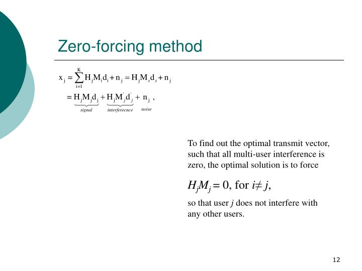 Zero-forcing method