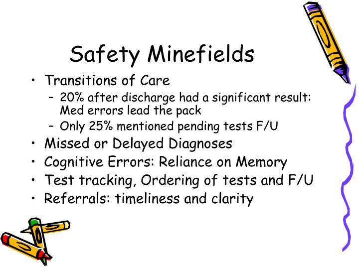 Safety Minefields
