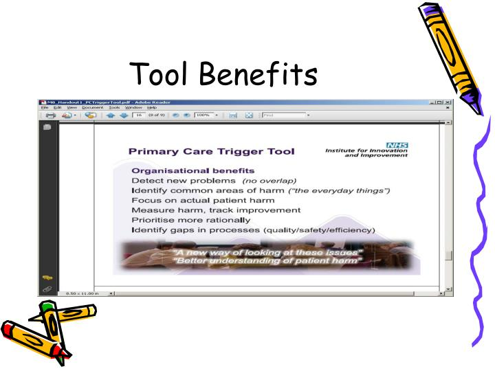 Tool Benefits