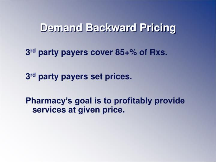 Demand Backward Pricing