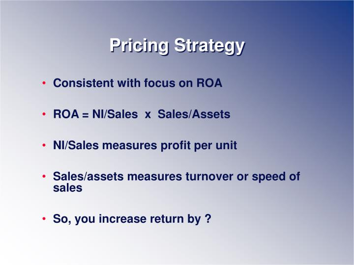 Pricing Strategy