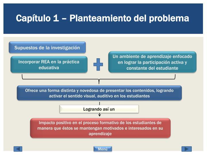 Capítulo 1 – Planteamiento del problema