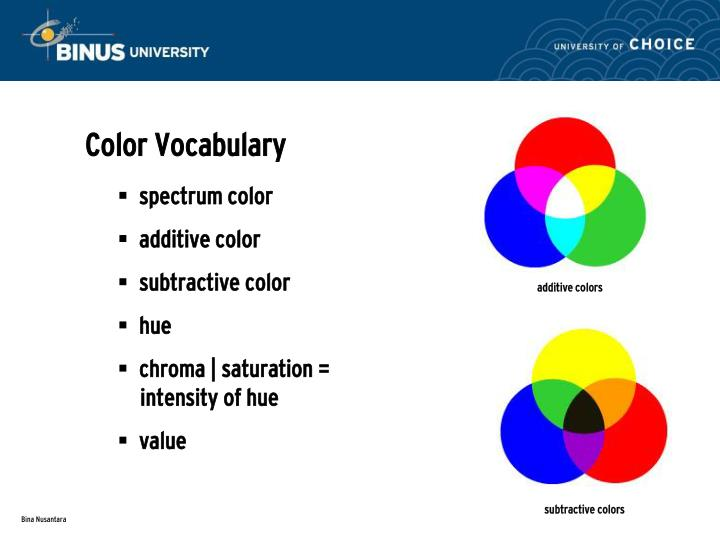 Color Vocabulary