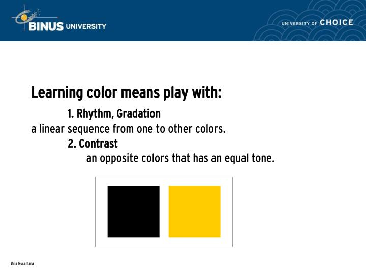 Learning color means play with: