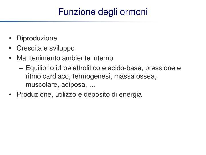 Funzione degli ormoni