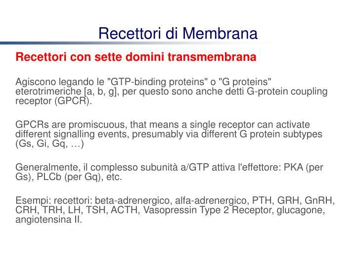 Recettori di Membrana