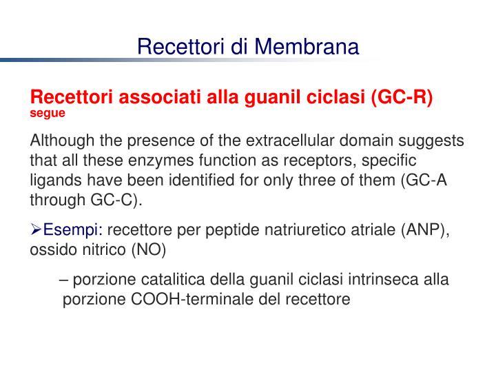 Recettori associati alla guanil ciclasi (GC-R)