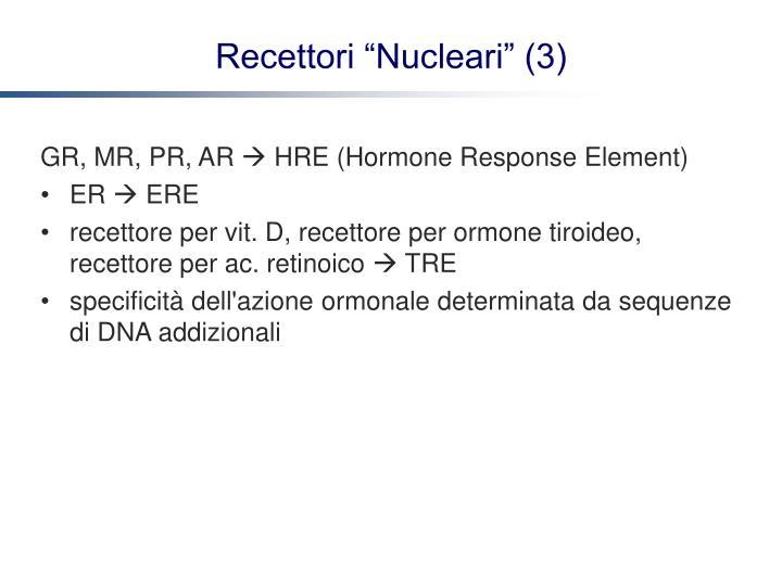 GR, MR, PR, AR
