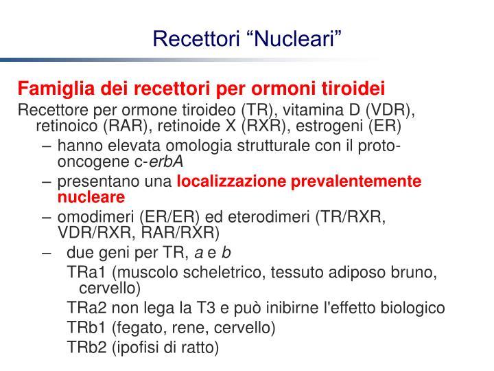 Famiglia dei recettori per ormoni tiroidei