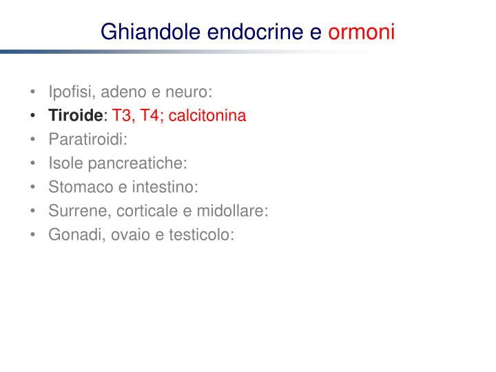Ghiandole endocrine e