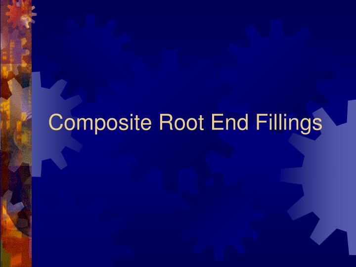 Composite root end fillings