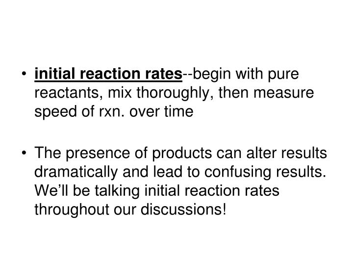 initial reaction rates