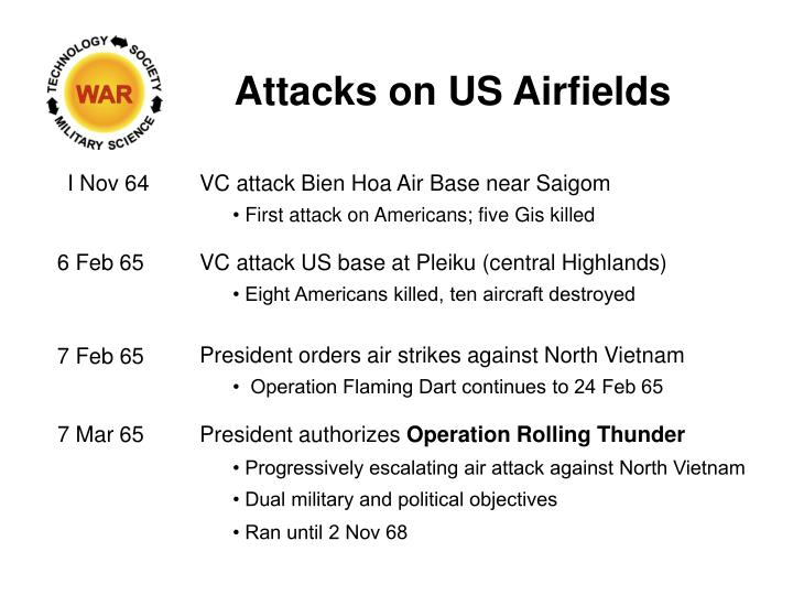 Attacks on US Airfields