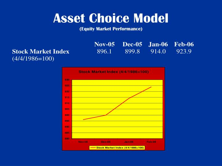 Asset Choice Model
