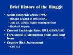 brief history of the ringgit