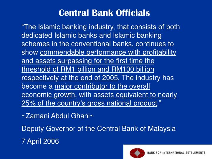 """The Islamic banking industry, that consists of both dedicated Islamic banks and Islamic banking schemes in the conventional banks, continues to show"