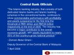 central bank officials