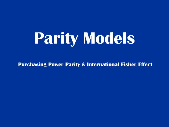 Parity Models