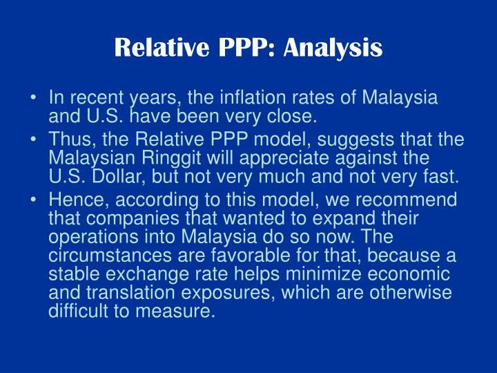 Relative PPP: Analysis