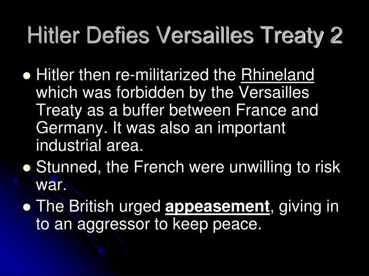 Hitler Defies Versailles Treaty 2
