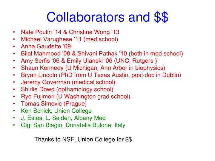 Collaborators and $$
