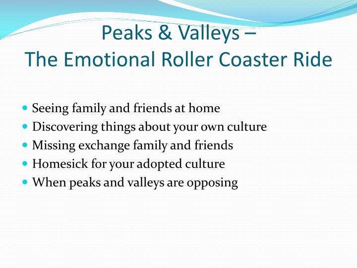 Peaks & Valleys –