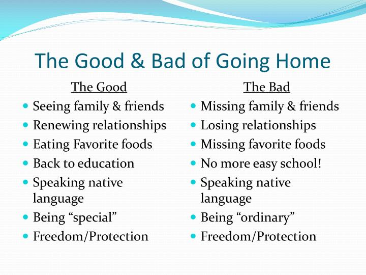 The Good & Bad of Going Home