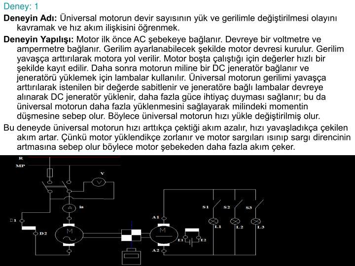 Deney: 1