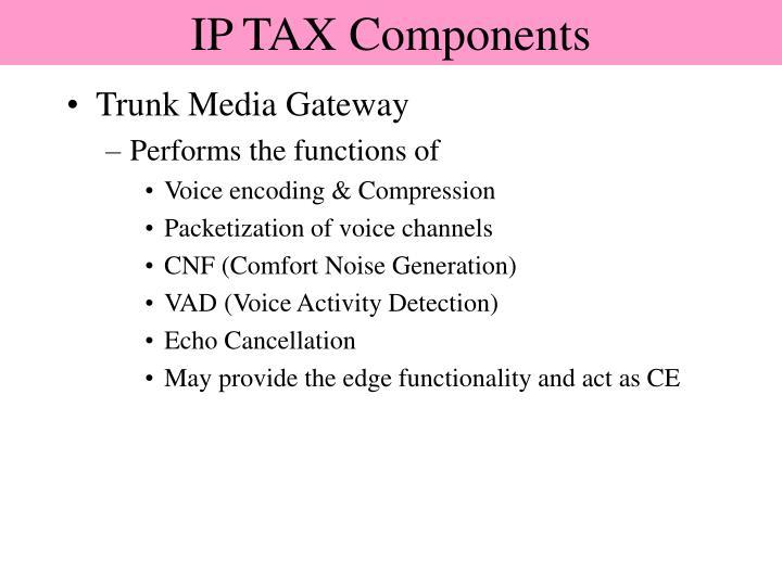 IP TAX Components