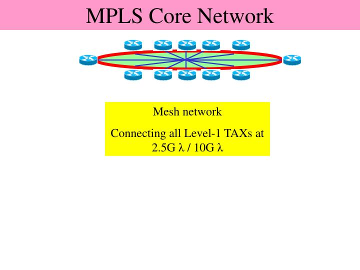 MPLS Core network