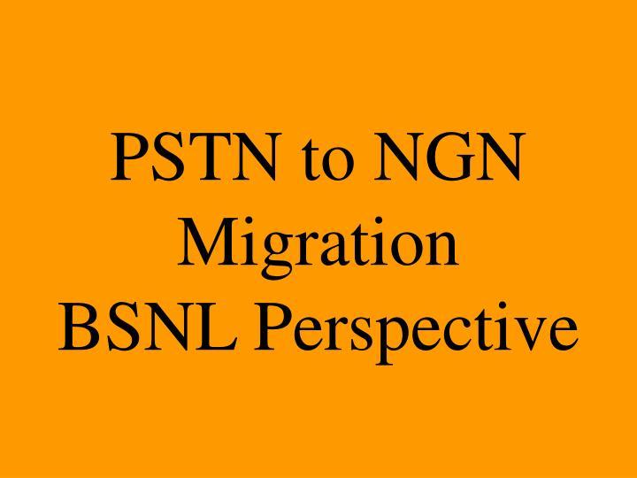PSTN to NGN Migration