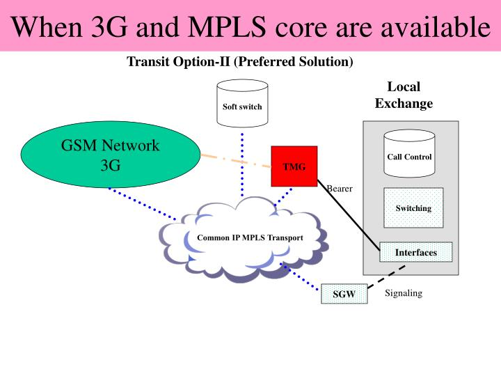 When 3G and MPLS core are available