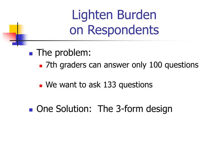 Lighten Burden