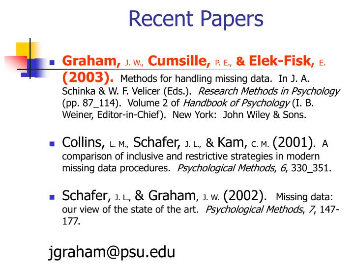 Recent papers