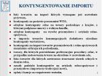 kontyngentowanie importu