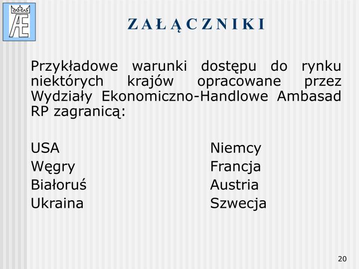 Z A Ł Ą C Z N I K I