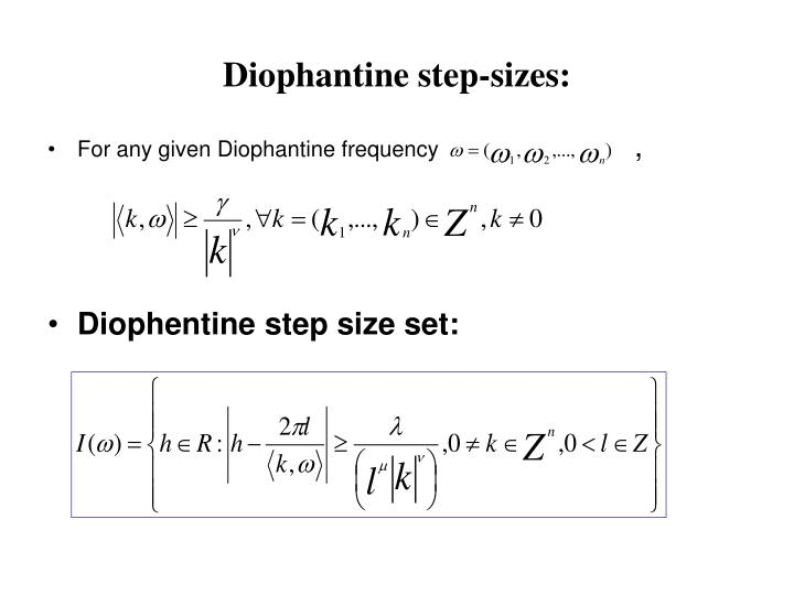 Diophantine step-sizes: