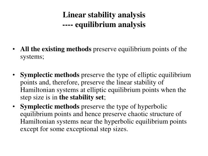 Linear stability analysis