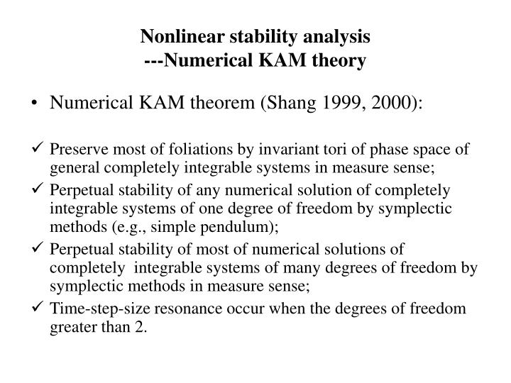 Nonlinear stability analysis
