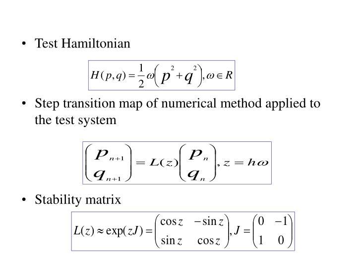Test Hamiltonian