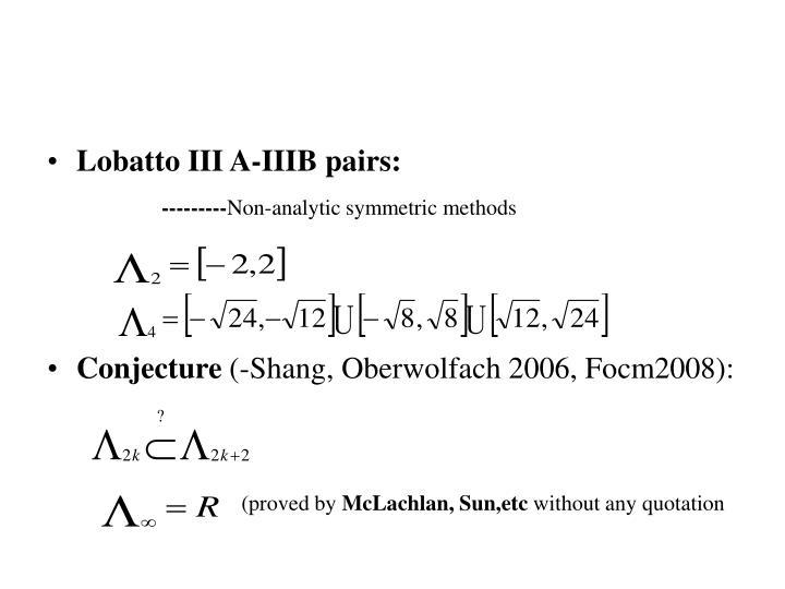 Lobatto III A-IIIB pairs: